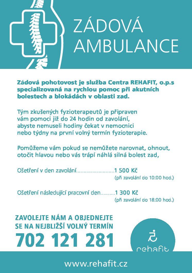 Od října spouštíme zádovou ambulanci